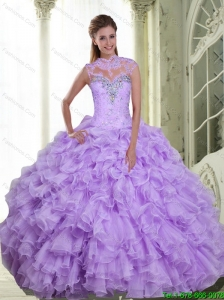 Perfect Beading and Ruffles Sweetheart 15 Quinceanera Dresses for 2015