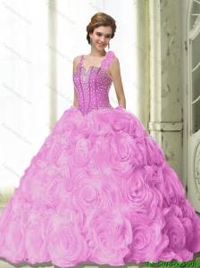 2015 Most Popular Beading 15 Quinceanera Dresses in Fuchsia