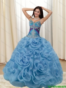 2015 Perfect Appliques and Rolling Flowers Multi Color Quinceanera Dresses