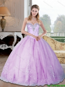 Elegant Sweetheart 2015 Sweet 16 Dresses with Beading and Appliques