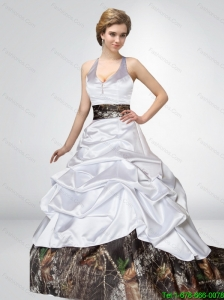 Popular A Line 2015 New Wedding Dresses with Bowknot and Side Zipper