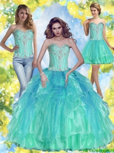 2015 Summer Perfect Ball Gown Sweetheart Quinceanera Dresses with Beading