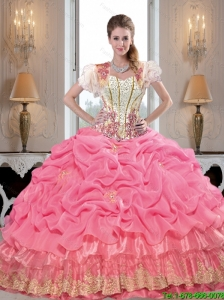 Perfect Sweetheart Quinceanera Dresses with Appliques and Beading For 2015 Fall