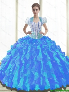 Perfect  Sweetheart Sweet 16 Dresses with Beading and Ruffles For 2015 Summer