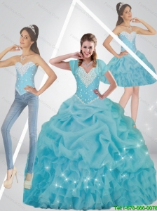New Arrival  Beaded 2015 Quinceanera Dresses in Baby Blue
