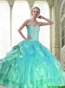 Perfect Lace Up Sweetheart Quinceanera Dresses with Beading For 2015 Fall