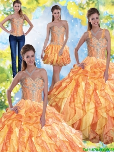 Top Seller  Quinceanera Dresses with Beading and Ruffles in Multi Color For 2015 Fall