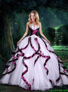 2015 Fall Top Seller Wine Red and White Quinceanera Dresses with Beading