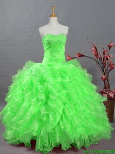2016 New Style Quinceanera Dresses with Beading and Ruffles