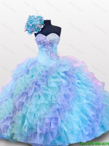 Top Seller Beading and Sequins Sweetheart Quinceanera Dresses for 2016