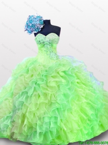 2015 Comfortable Quinceanera Dresses with Sequins and Ruffles