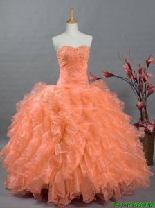 New Arrival 2016 Summer Sweetheart Quinceanera Gowns with Beading and Ruffles