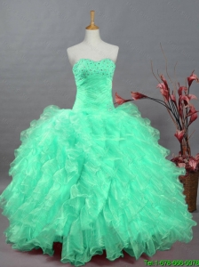 Perfect Sweetheart Quinceanera Dresses with Beading and Ruffles for 2015