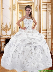 2016 Beautiful Printed and Beaded Quinceanera Dresses with Pick Ups
