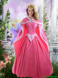 Perfect A Line Rose Pink Quinceanera Dresses with Off the Shoulder