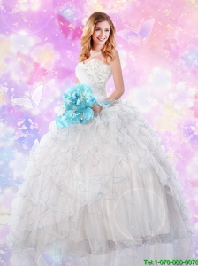 2016 Perfect Sweetheart Quinceanera Dresses with Sequins and Ruffles