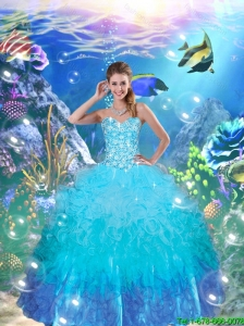 Decent Sweetheart Quinceanera Dresses with Appliques and Ruffles