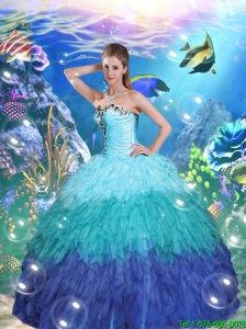 Artistic Ball Gown Sweet 16 Dresses with Beading and Ruffles