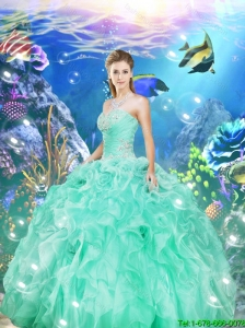 Decent Apple Green Quinceanera Dresses with Appliques and Ruffles