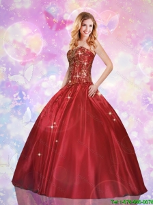 Fashionable Sweetheart Beaded Quinceanera Gowns in Taffeta for 2016