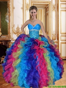 Wonderful Sweetheart Quinceanera Dresses with Beading and Ruffles