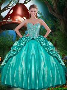 Luxurious 2015 Fall Beaded and Ruffled Layers Quinceanera Dresses in Taffeta