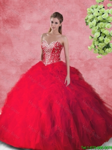 Fashionable Ball Gown Quinceanera Dresses with Beading and Ruffles