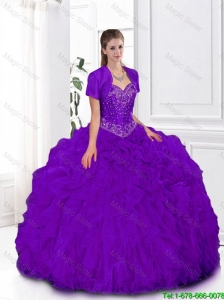 Pretty Ball Gown Sweetheart Quinceanera Gowns in Purple