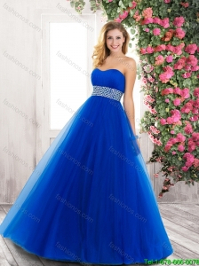 Popular Sweetheart Blue Prom Dresses with Beading for 2015