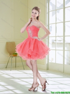 2016 Sturning Sweetheart Beaded Prom Dresses with Mini Length