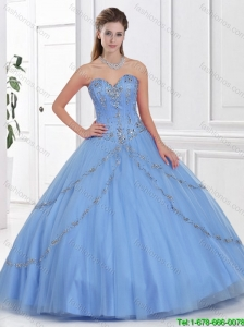 Hot Sale Ball Gown Sweet 16 Gowns with Beading for 2016