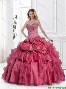 Beautiful Appliques Sweetheart Quinceanera Dresses with Beading