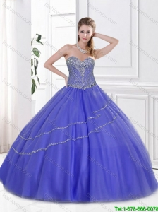 Classical Sweetheart Sweet 16 Dresses with Beading for 2016