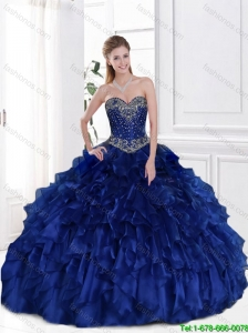 Elegant Royal Blue Sweetheart Quinceanera Dresses for 2016