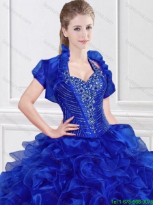 Fashionable Beaded and Ruffles Quinceanera Dresses with Halter Top