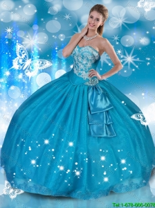 Romantic Sweetheart Quinceanera Dresses with Appliques for 2016