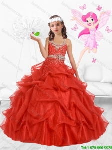 Delicate Scoop Mini Quinceanera Dresses with Beading and Bowknot