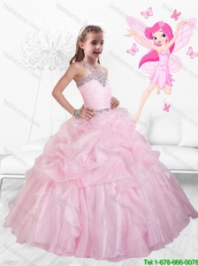 New Style Straps Beaded and Ruffles Mini Quinceanera  Dresses