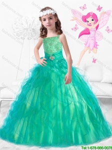 Wonderful Square Mini Quinceanera Dresses with Beading and Ruffles