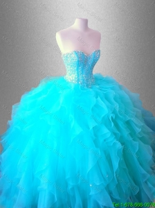 2016 Popular Sweetheart Quinceanera Luxurious Dresses with Beading and Ruffles