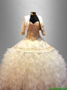 2016 Popular Sweetheart Quinceanera Pretty Dresses with Beading and Ruffles
