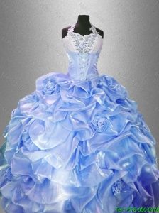 2016 Pretty Lavender Luxurious Quinceanera Gowns with Hand Made Flowers