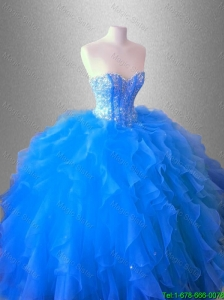 2016 New arrival Ruffles and Beaed Classical Quinceanera Dresses with Sweetheart