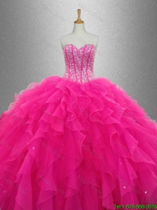 New arrival Popular Sweetheart Quinceanera Dresses with Beading and Ruffles for 2016