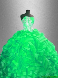 2016 Classical Ball Gown Sweet 16 Dresses with Beading and RufflesClassical Ball Gown Sweet 16 Dresses with Beading and Ruffles