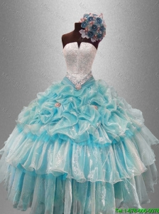 2016 New arrival Perfect Strapless Quinceanera Dresses with Beading and Pick Ups