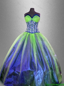 2016 Popular Fashionable Ball Gown Sweet 16 Gowns with Beading and Ruffles