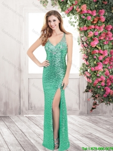 Gorgeous Column Straps Prom Dresses with Sequins for 2016