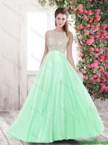 Summer Discount Bateau Prom Dresses with Beading for 2016