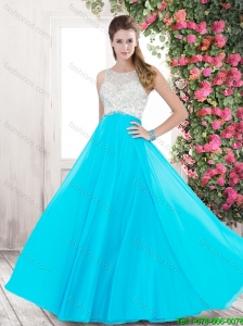 Classical Luxurious Spring Perfect Bateau Open Back Prom Dresses with Beading